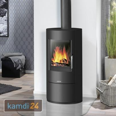 justus austin 5 kaminofen stahl schwarz 5 0 kw kamin ofen holzofen eek a ebay. Black Bedroom Furniture Sets. Home Design Ideas