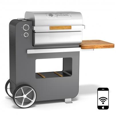 bob grillson premium tiefschwarz anthrazit 2017 grill smoker pizzaofen ebay. Black Bedroom Furniture Sets. Home Design Ideas