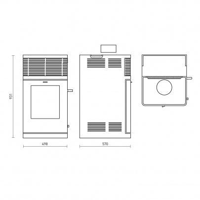fireplace gravio pelletofen mokka 8 kw stromlos ger uschlos eek a ebay. Black Bedroom Furniture Sets. Home Design Ideas