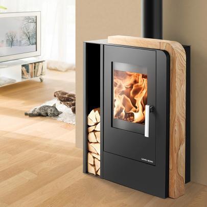 haas sohn aruba easy kaminofen schwarz woodstone 6 kw kamin ofen eek a ebay. Black Bedroom Furniture Sets. Home Design Ideas