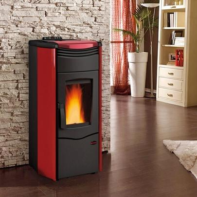 pelletofen wasserf hrend extraflame melinda idro steel bordeaux 14 1 kw 8008269740547 ebay. Black Bedroom Furniture Sets. Home Design Ideas