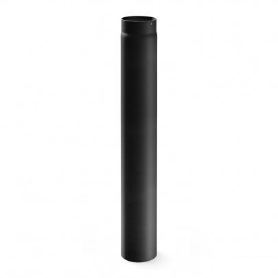 Rauchrohr DN 120 mm Ofenrohr Kaminrohr Länge 1000 mm Grau Stahl Kamin Ofen Neu
