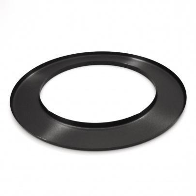 rauchrohr ofenrohr 120mm wandrosette schwarz dn120 rosette kaminrohr ofen ebay. Black Bedroom Furniture Sets. Home Design Ideas