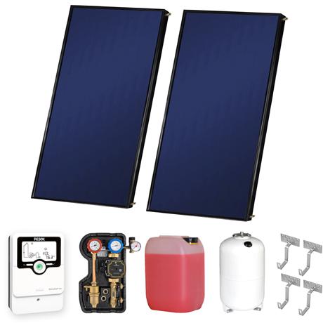 Flachkollektor-Set von Westech Solar