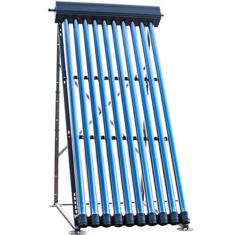 Flachdachständer mit Röhrenkollektoren von Westech Solar