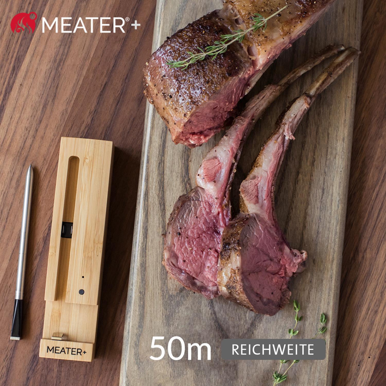 MEATER+ Kabelloses Fleischthermometer mit 50 m Reichweite