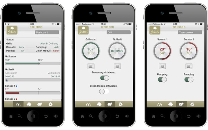 Pelletgrill Steuerung per Handy App