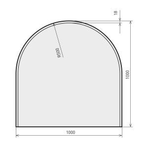 Sehr Glasplatte Kamin - Funkenschutzplatte Glas günstig kaufen OA58