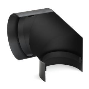 Thermoschild seitlich 90/° schwarz raik SH118-120-sw Rauchrohrbogen Ofenrohr 120mm