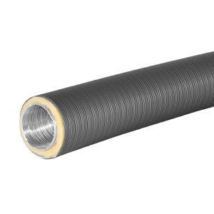 schwarz // grau  Rosette 100 mm Aluflexrohr Flexrohr isoliert Ø 80 mm 125 mm