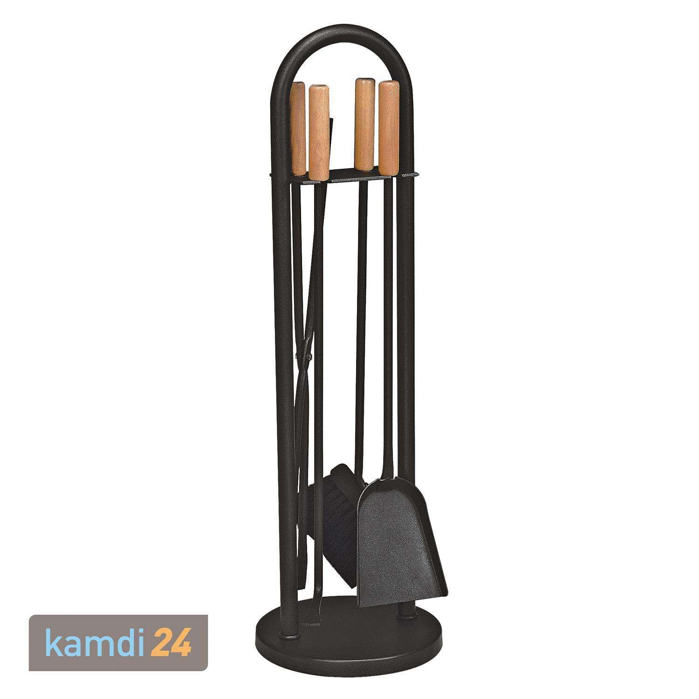 Kaminbesteck 4 Teilig Schwarz Beschichtet Hohe 70cm Im Kamdi24 Shop Kaufen