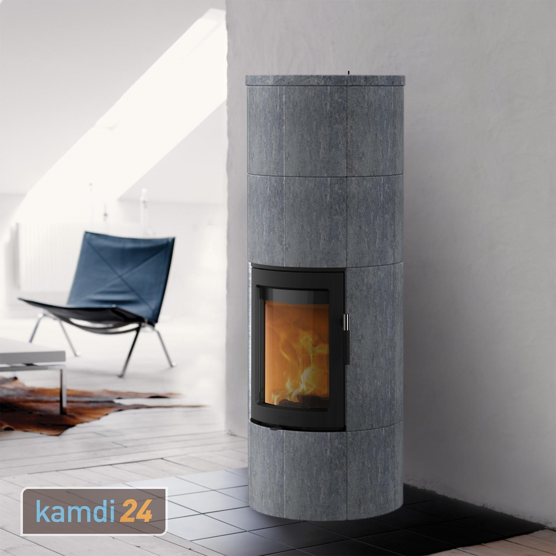 Turbo Kaminofen | Kaminofen Lotus Maestro 2 | Speckstein | Tür Schwarz ZA24