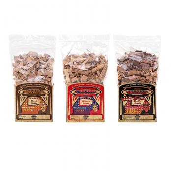 Axtschlag Wood Smoking Chips 3er-Set: Buche, Hickory & Devil´s Smoke