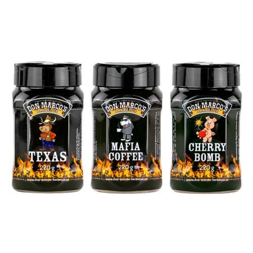 Don Marco´s Rub-Set: Texas Style, Mafia Coffee & Cherry Bomb