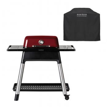 Everdure FORCE™ Gasgrill Red + Abdeckhaube