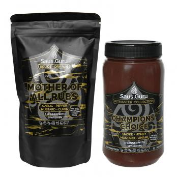 Saus.Guru Pitmaster Collection - Golden Choice: Champions' Choice + Mother of all Rubs