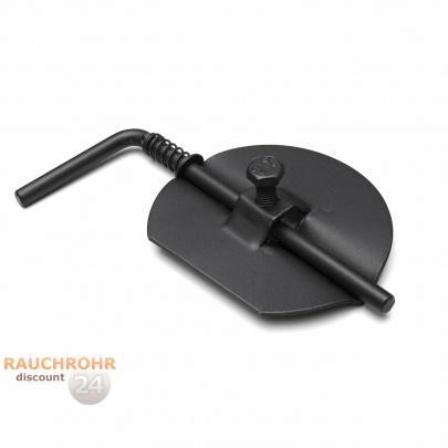 rauchrohr ofenrohr 200mm drosselklappe schwarz dn200 kaminrohr ofen rohr ebay. Black Bedroom Furniture Sets. Home Design Ideas