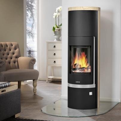 kaminofen justus faro w stahl schwarz sandstein 7 kw kamin ofen. Black Bedroom Furniture Sets. Home Design Ideas
