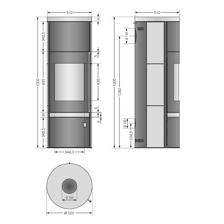 kamine mehr anzeigen kaminofen justus faro plus raumluftunabh. Black Bedroom Furniture Sets. Home Design Ideas