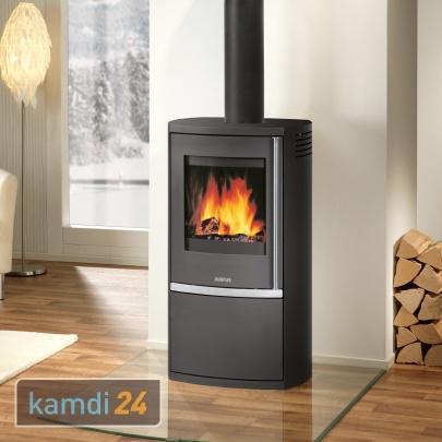 justus reno r kaminofen stahl schwarz 6 kw kamin ofen holzofen ebay. Black Bedroom Furniture Sets. Home Design Ideas