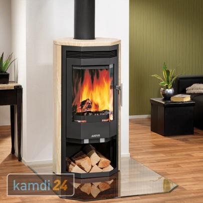 justus usedom 5 kaminofen stahl schwarz sandstein 5 kw kamin ofen holzofen ebay. Black Bedroom Furniture Sets. Home Design Ideas