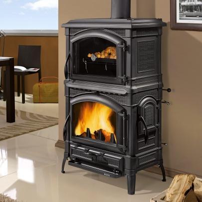 kaminofen la nordica isotta con forno 11 5 kw kamin ofen. Black Bedroom Furniture Sets. Home Design Ideas
