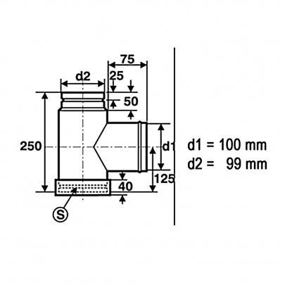 pelletrohr ofenrohr 100mm kapselknie t st ck dn100 pellet ofen rohr. Black Bedroom Furniture Sets. Home Design Ideas