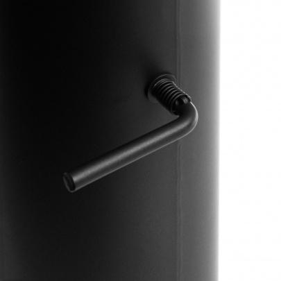 rauchrohr ofenrohr 150mm 1000mm mit zugregulierung schwarz dn150 kaminrohr. Black Bedroom Furniture Sets. Home Design Ideas