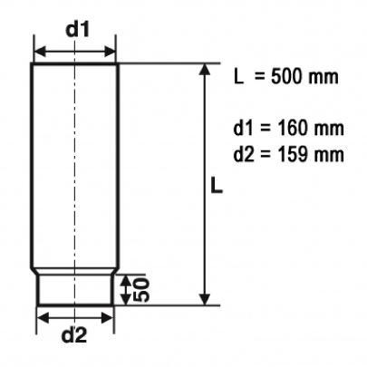 rauchrohr ofenrohr 160mm 500mm gussgrau dn160 kaminrohr ofen rohr ebay. Black Bedroom Furniture Sets. Home Design Ideas