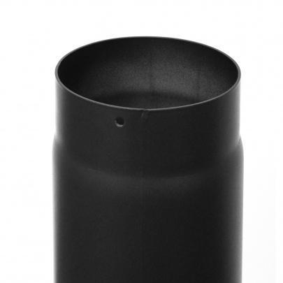 rauchrohr ofenrohr 200mm 250mm schwarz dn200 kaminrohr ofen rohr ebay. Black Bedroom Furniture Sets. Home Design Ideas