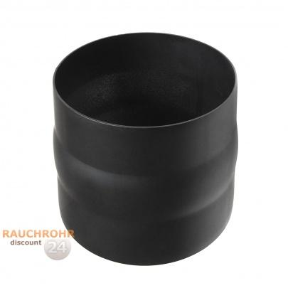 rauchrohr ofenrohr 200mm adapter schwarz dn200. Black Bedroom Furniture Sets. Home Design Ideas