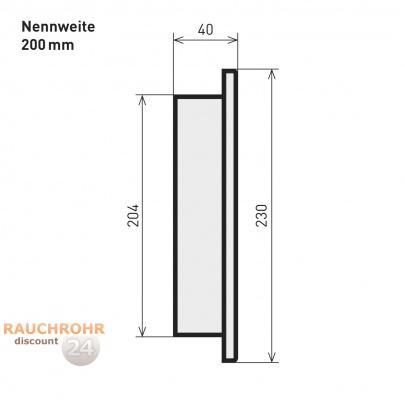 rauchrohr ofenrohr 200mm blindkappe schwarz dn200 kaminrohr ofen rohr ebay. Black Bedroom Furniture Sets. Home Design Ideas