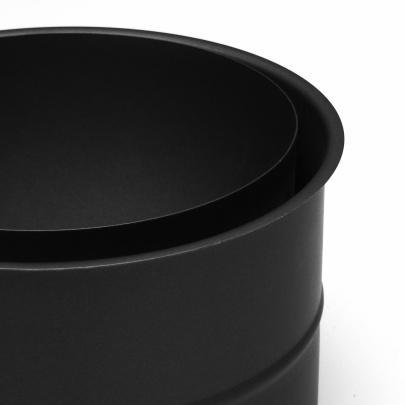 rauchrohr ofenrohr 200mm doppelwandfutter schwarz dn200 kaminrohr ofen rohr ebay. Black Bedroom Furniture Sets. Home Design Ideas