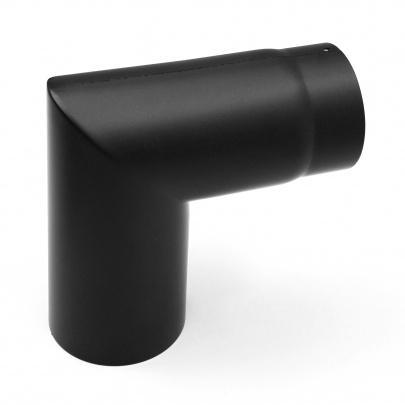 rauchrohrbogen ofenrohr 120mm 90 zweiteilig schwarz dn120 kaminrohr ofen ebay. Black Bedroom Furniture Sets. Home Design Ideas