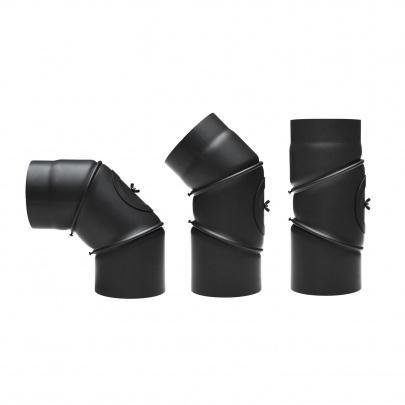 rauchrohrbogen ofenrohr 200mm 0 90 mit reinigungs ffnung schwarz ebay. Black Bedroom Furniture Sets. Home Design Ideas